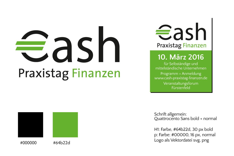 Mockup, Logo-Optimierung Cash Finanzen