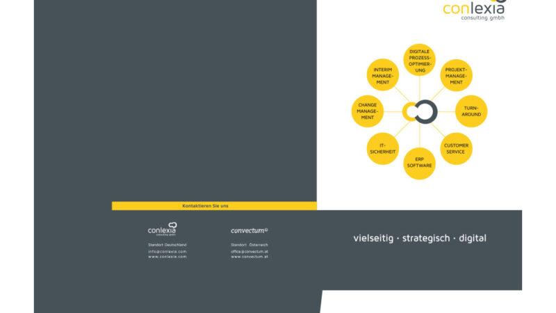 Logo-Design, Kommunikationsmittel Mappe Conlexia